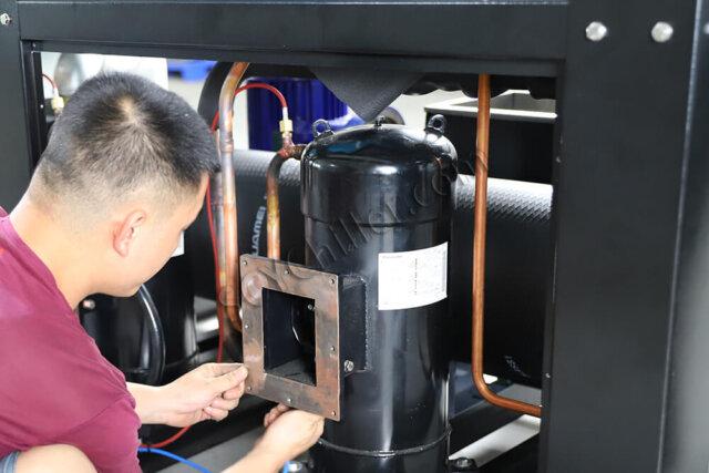 air-cooled chiller assembling
