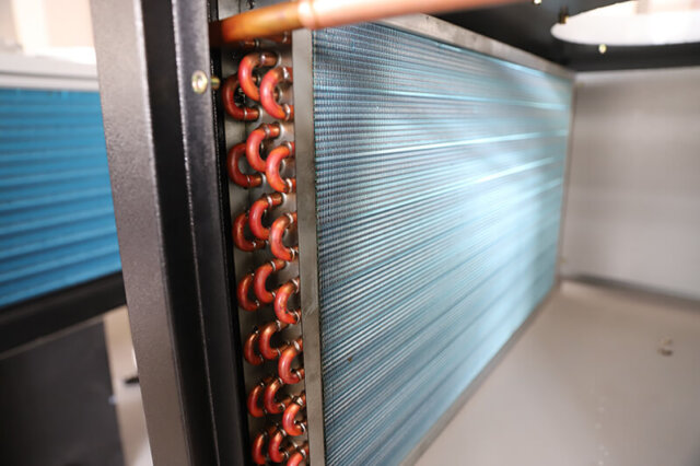 air cooled condenser in real chiller