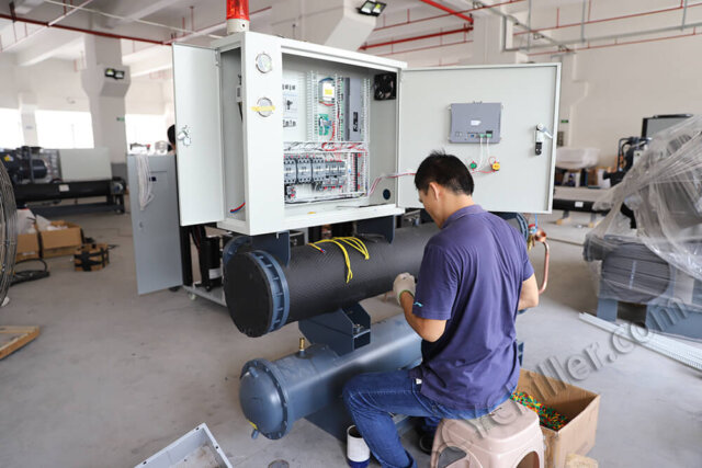 assembling water cooled chiller
